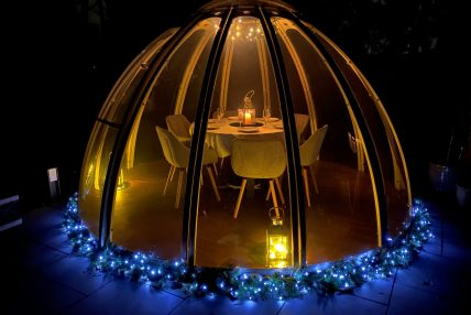 festive dining dome